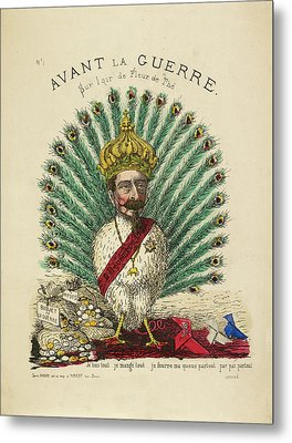 French Caricature - Avant La Guerre Metal Print by British Library