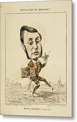 French Caricature - Emile Ollivier Metal Print by British Library