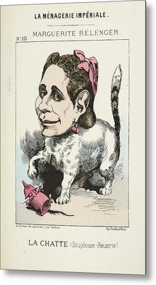 French Caricature - La Chatte Metal Print by British Library