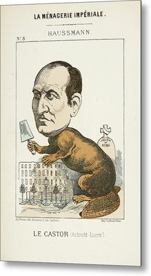French Caricature - Le Castor Metal Print by British Library