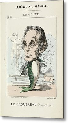 French Caricature - Le Maquereau Metal Print by British Library