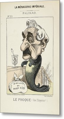 French Caricature - Le Phoque Metal Print by British Library