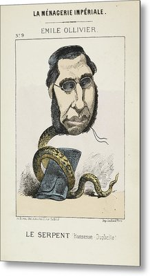 French Caricature - Le Serpent Metal Print by British Library