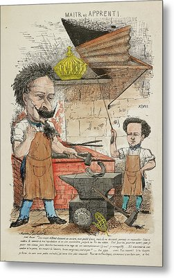 French Caricature - Maitr Et Apprenti Metal Print by British Library