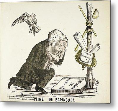 French Caricature - Peine De Badinguet Metal Print by British Library