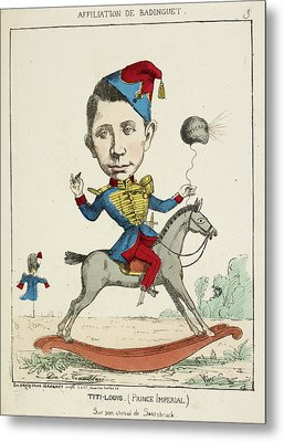 French Caricature - Titi-louis Metal Print by British Library