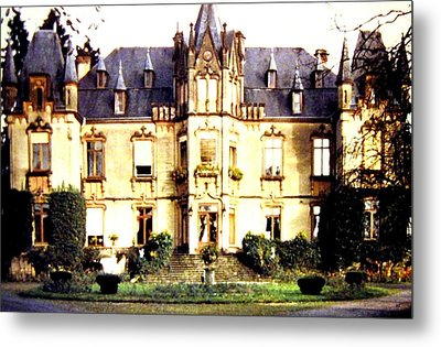 French Chateau 1955 Metal Print by Will Borden