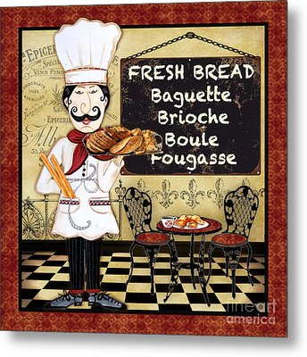 French Chef-a Metal Print