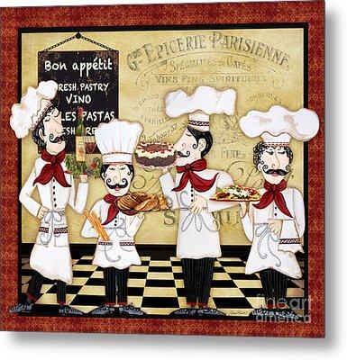 French Chefs-bon Appetit Metal Print by Jean Plout