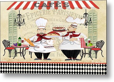 French Chefs-jp2250b Metal Print by Jean Plout