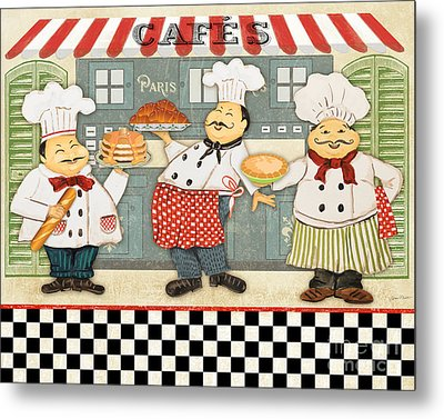 French Chefs-jp2280 Metal Print by Jean Plout