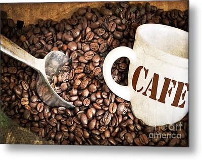 French Coffee Metal Print by Delphimages Photo Creations