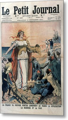 French Colonialism, 1911 Metal Print