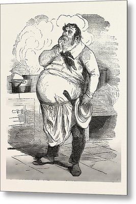 French Cook Thinking About A New Sauce, Europe Metal Print by French School
