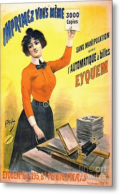 French Copier Ad 1899 Metal Print by Padre Art
