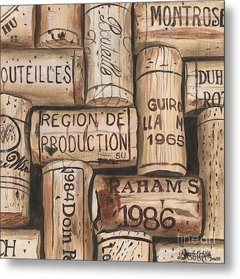 French Corks Metal Print