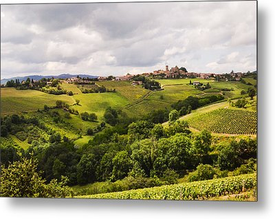 Metal Print featuring the photograph French Countryside by Allen Sheffield