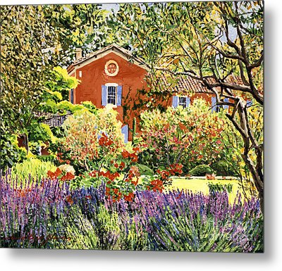 French Countryside House Metal Print by David Lloyd Glover