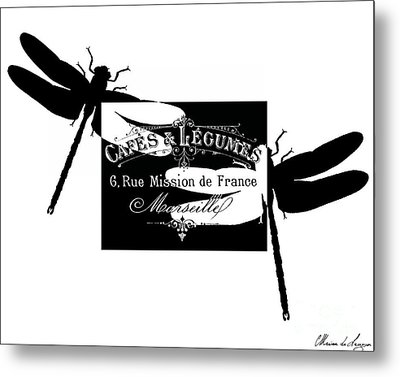 French Dragonflies 2 Metal Print