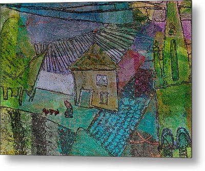 French Farm Metal Print by Catherine Redmayne