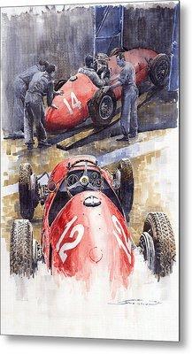 French Gp 1952 Ferrari 500 F2 Metal Print by Yuriy  Shevchuk