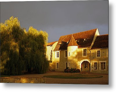 French House At Sunset Metal Print