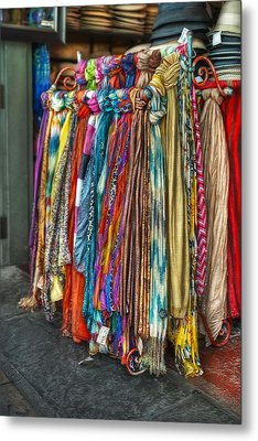 French Market Scarves Metal Print by Brenda Bryant