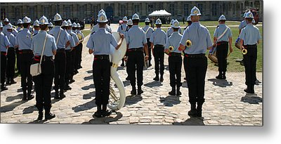 French Military Band Metal Print by A Morddel