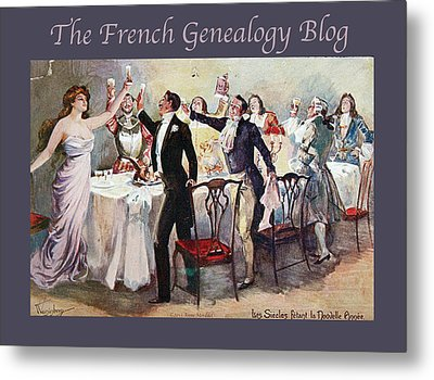 French New Year With Fgb Border Metal Print