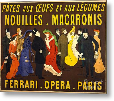 French Pasta Advertisement 1901 Metal Print by Padre Art