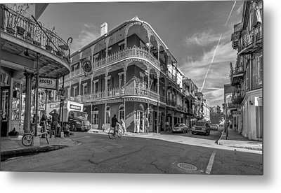 French Quarter Afternoon Bw Metal Print by Steve Harrington