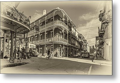 French Quarter Afternoon Sepia Metal Print by Steve Harrington