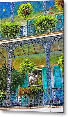 French Quarter Balcony 1 Metal Print by David Doucot