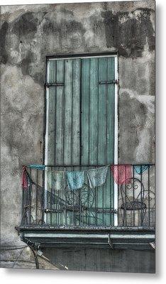 French Quarter Balcony Metal Print by Brenda Bryant
