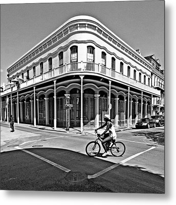 French Quarter Connection Metal Print by Andy Crawford