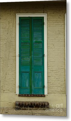 French Quarter Door - 15 Metal Print by Susie Hoffpauir
