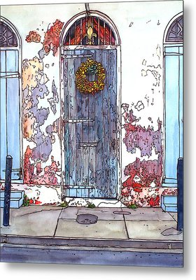 French Quarter Door Metal Print by John Boles