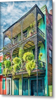 French Quarter Ferns Metal Print