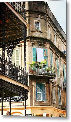 French Quarter Morning Metal Print