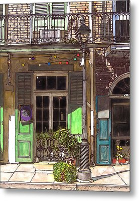 French Quarter Shop 369 Metal Print by John Boles