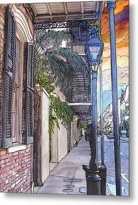 French Quarter Sidewalk 443 Metal Print by John Boles