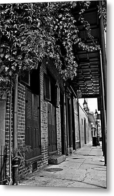 French Quarter Sidewalk Metal Print by Andy Crawford