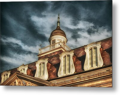 French Quarter Skies Metal Print