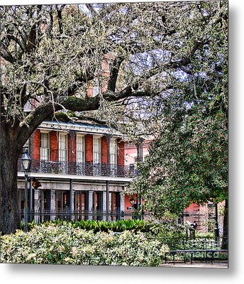 French Quarter Spring Metal Print by Olivier Le Queinec