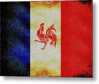 French Rooster Metal Print by Jared Johnson