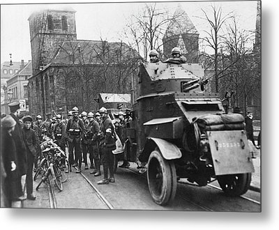 French Soldiers Occupy Essen Metal Print