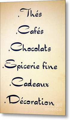 French Store Sign Metal Print