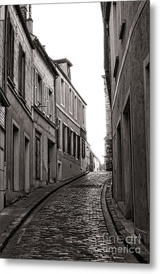 French Street Metal Print by Olivier Le Queinec