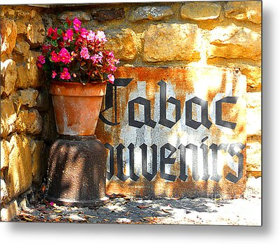 French Tabac Metal Print by Lauren Leigh Hunter Fine Art Photography