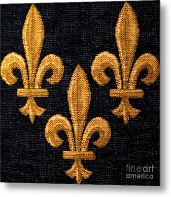 French Tapestry Metal Print by Patricia Januszkiewicz